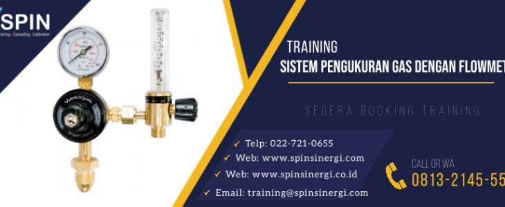 Trainig Sistem Pengukuran Gas dengan Flowmeter