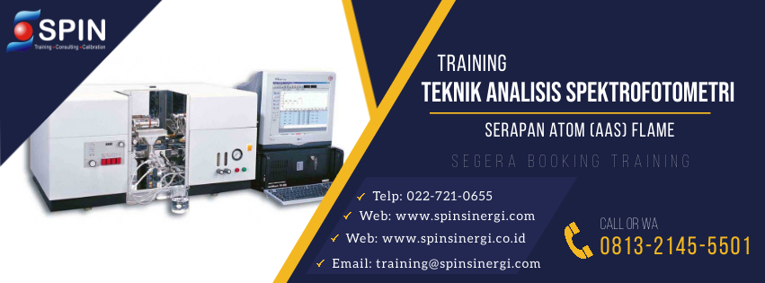 Training Teknik Analisis Spektrofotometri Serapan Atom (AAS) Flame