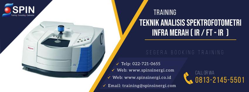 Training Teknik Analisis Spektrofotometri Infra Merah